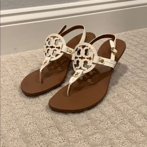 Tory Burch White Sandals Size 8.5